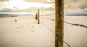 Загородка зимы стоковая фотография rf