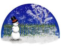 Загородка зимы Стоковые Изображения