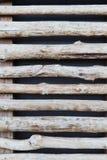 Загородка или штарки деревянных ручек Стоковые Фото