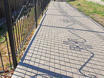 Загородка и своя тень Стоковое фото RF
