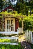 Загородка и старый сарай в городе Ellicott, Мэриленде Стоковое Фото