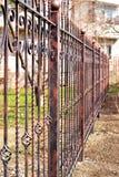 Загородка металла вокруг дома Стоковые Изображения RF