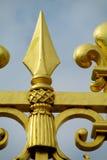 Загородка металла с иглой на верхней части Стоковое Изображение