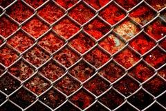 Загородка металла с grunge ржавчины Стоковые Изображения RF