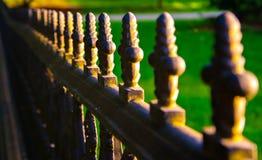 Загородка на заходе солнца Стоковое Фото