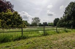 загородка на ранчо лошади Стоковые Изображения