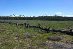 Загородка Обманщик-рельса - Айдахо Стоковое Фото