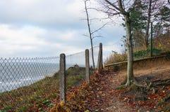 Загородка решетки побережьем Стоковое Изображение RF