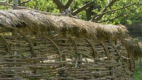 Загородка сена и древесины акции видеоматериалы