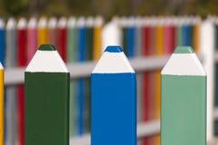 Загородка сделанная из больших карандашей Стоковые Фотографии RF