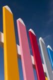 Загородка сделанная из больших карандашей Стоковые Фото