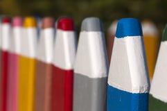 Загородка сделанная из больших карандашей Стоковое Изображение