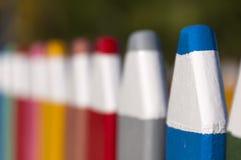 Загородка сделанная из больших карандашей Стоковое Изображение RF