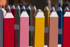 Загородка сделанная из больших карандашей Стоковые Изображения RF