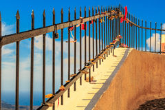 Загородка с замками свадьбы Стоковое Фото