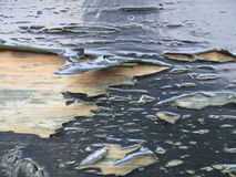 Загородка с краской шелушения стоковое фото rf