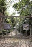 Загородка утюга темы обезьяны Стоковое фото RF