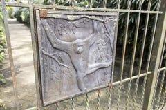 Загородка утюга темы обезьяны Стоковые Изображения RF