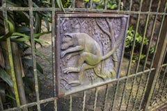 Загородка утюга темы обезьяны Стоковые Фото