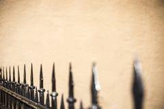 Загородка шипа железная Стоковая Фотография