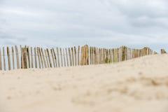 Загородка дюны на пляже Стоковая Фотография RF