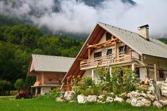 Загородный дом в Альпах, Словения Стоковая Фотография RF
