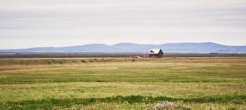Загородный дом в Исландии Стоковые Изображения