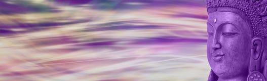 Заголовок вебсайта Будды Стоковое Изображение RF