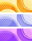 Заголовок вебсайта, знамя, глобус предпосылки с движением иллюстрация штока