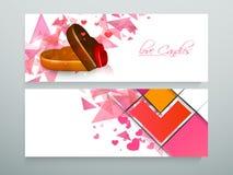 Заголовок вебсайта конфет влюбленности или комплект знамени Стоковая Фотография RF