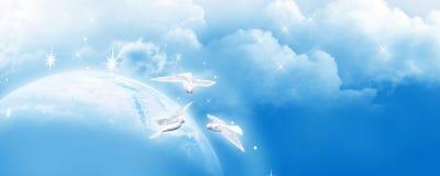 Заголовок голубого неба, знамя Стоковые Фотографии RF