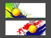 Заголовок или знамя вебсайта для концепции спорт Стоковые Изображения