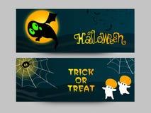Заголовок или знамя вебсайта для партии хеллоуина Стоковые Фото