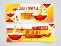 Заголовок или знамя сети продажи для Diwali Стоковые Изображения