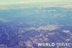 Заголовок перемещения мира стоковое изображение rf