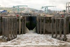 Заграждение залива Cardiff Стоковая Фотография