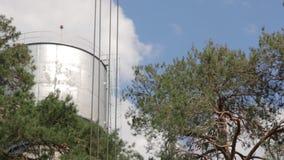 Заграждение крюка крана здания видеоматериал