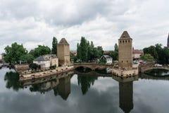 Заграждение страсбурга vauban около канала в Франции Стоковые Фотографии RF