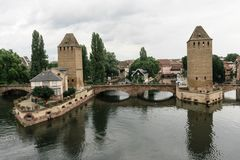Заграждение страсбурга vauban около канала в Франции Стоковое фото RF
