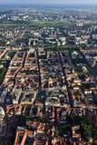 Загреб от воздуха, Хорватии Стоковая Фотография RF