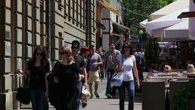 Загреб, улица Bogoviceva сток-видео