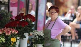 Загреб/флорист и ее цветочный магазин Стоковое фото RF