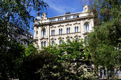 Загреб, Хорватия, дворец гостиницы Стоковое Изображение