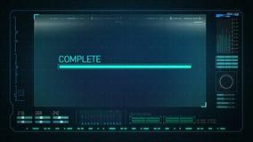 Загрузка в интерфейсе цифрового дисплея диаграмма технологии, экран данным по работы вычислительной машины