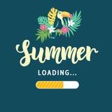 Загрузка лета Современный забавный плакат Стоковое Изображение RF