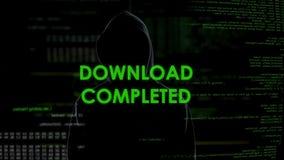 Загрузка завершила, хакер крадя личные данные от учета, сообщения системы сток-видео