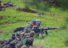 Загрузка крупнокалиберного пулемета Стоковое Изображение RF