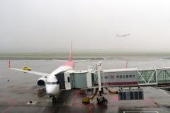 Загрязнение воздуха в авиапорте Стоковые Фото