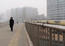 Загрязнение воздуха в Пекине Стоковые Изображения RF