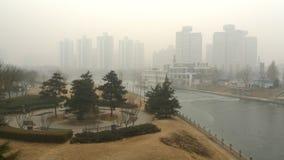 Загрязнение воздуха в Пекине Стоковые Фотографии RF